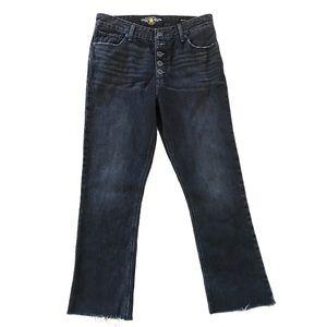 Lucky Brand Bridgette Cropped Flare Raw Hem Jeans